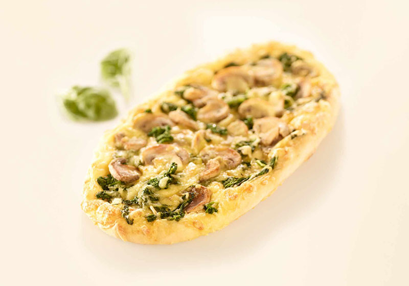 Pizza Spinach & Mushrooms