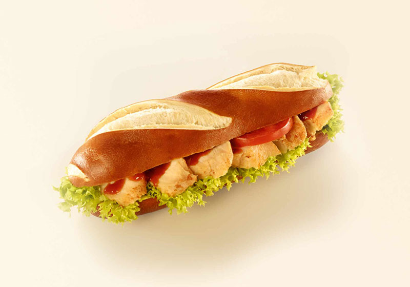 Pretzel Baguette With Chicken Breast