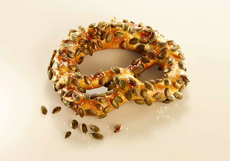 Pretzel With Pumpkin Seeds & Salt